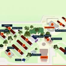 Mapa de Centro Universitario de la Costa