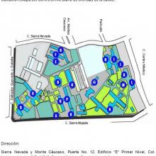 Ubicación (Mapa del Centro Universitario de Ciencias de la Salud):
