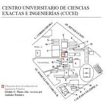 Ubicación de la Coordinación de Ingeniería Fotónica. Módulo O. Planta Alta.